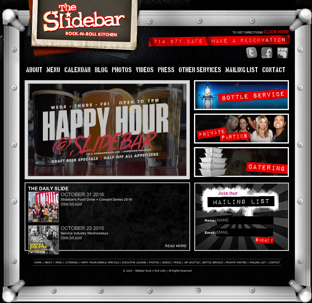 Slidebar Rock N Roll Cafe Competitors, Revenue and Employees