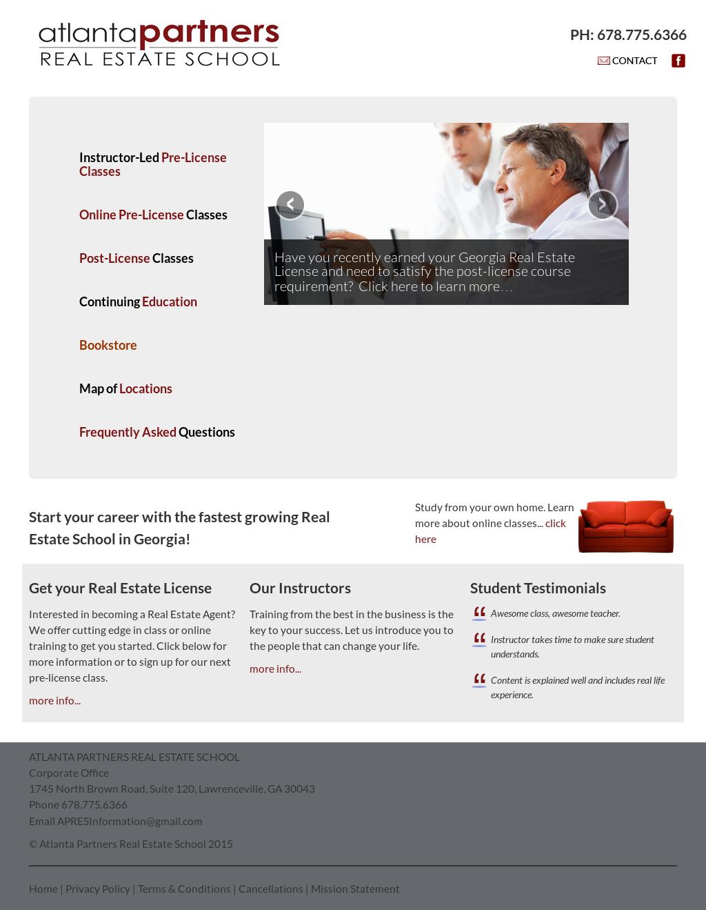 Atlanta Partners Real Estate School Competitors Revenue And