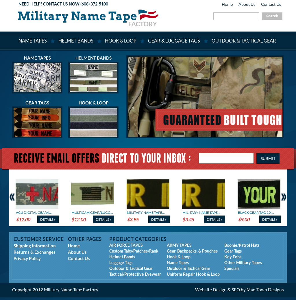 Military Name Tape Factory Competitors, Revenue and