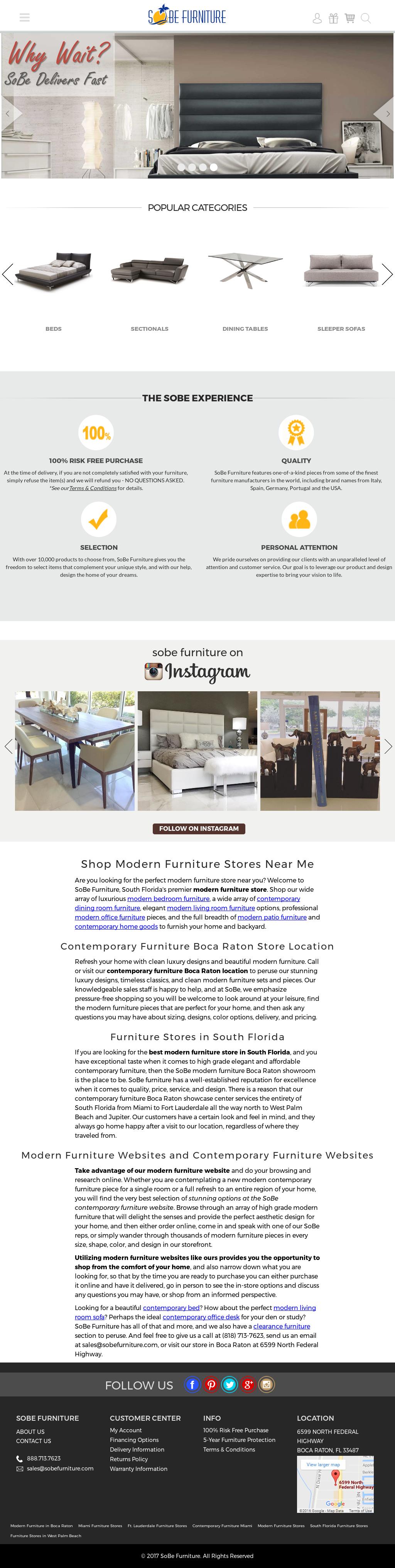 Sobe Furnitureu0027s Website Screenshot On Jul 2017
