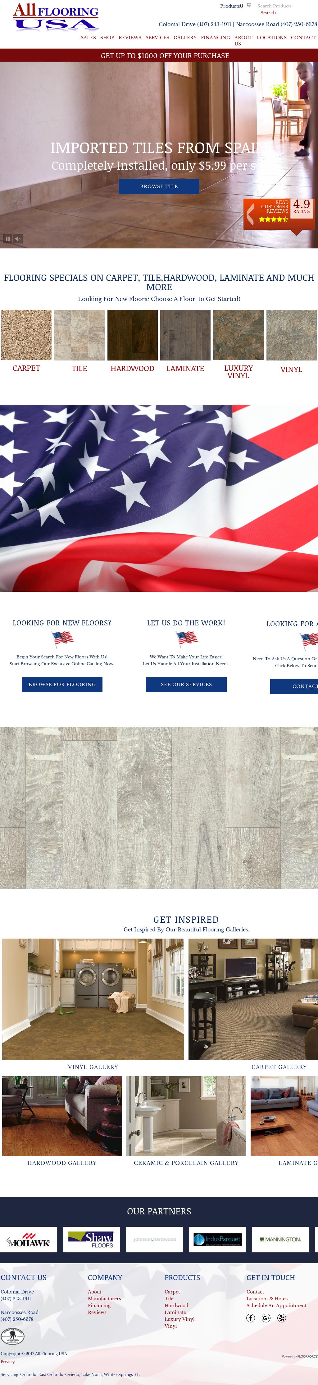 All Flooring Usa Website History