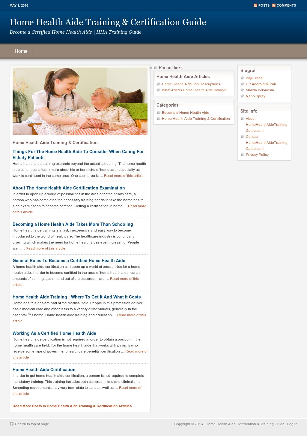 Home Health Aide Certification Training Guide Competitors Revenue