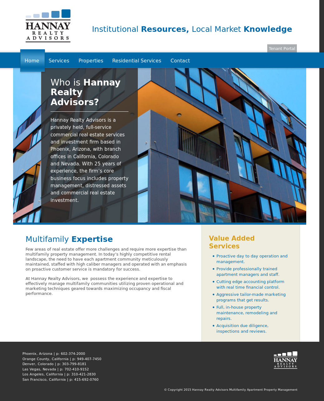 Hannay Realty Advisors Multifamily Apartment Property