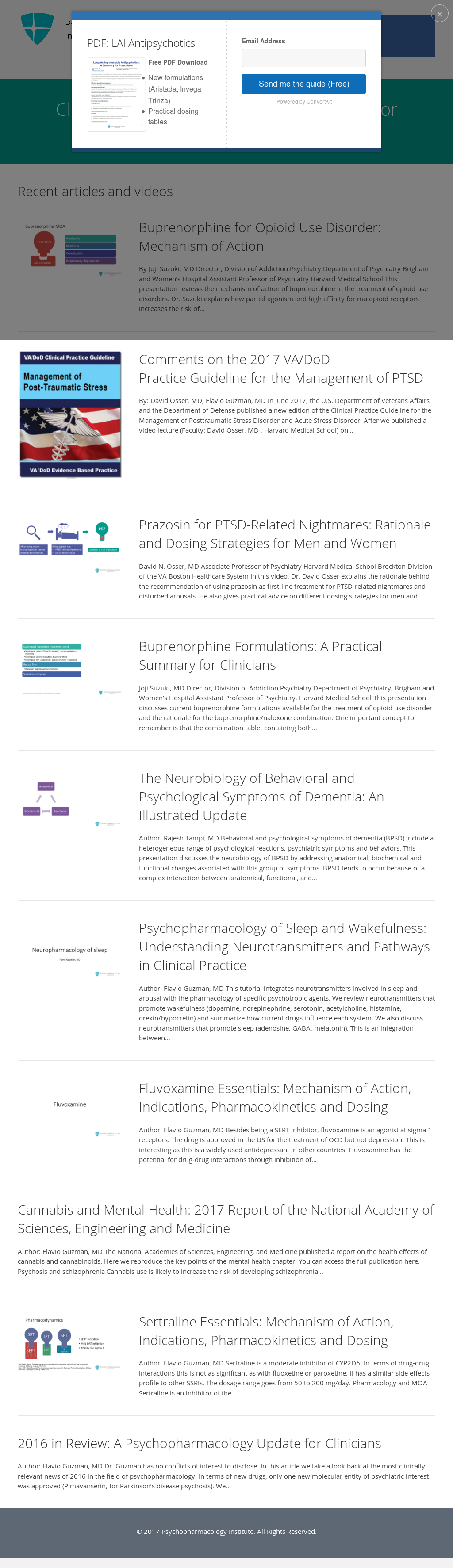 Psychopharmacology Institute Competitors, Revenue and