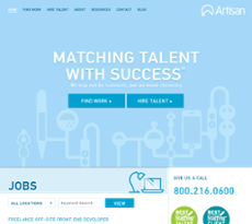 Artisan Talent website history