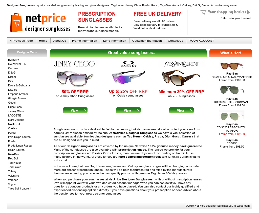 c0325e7943f Netprice Designer Sunglasses Competitors