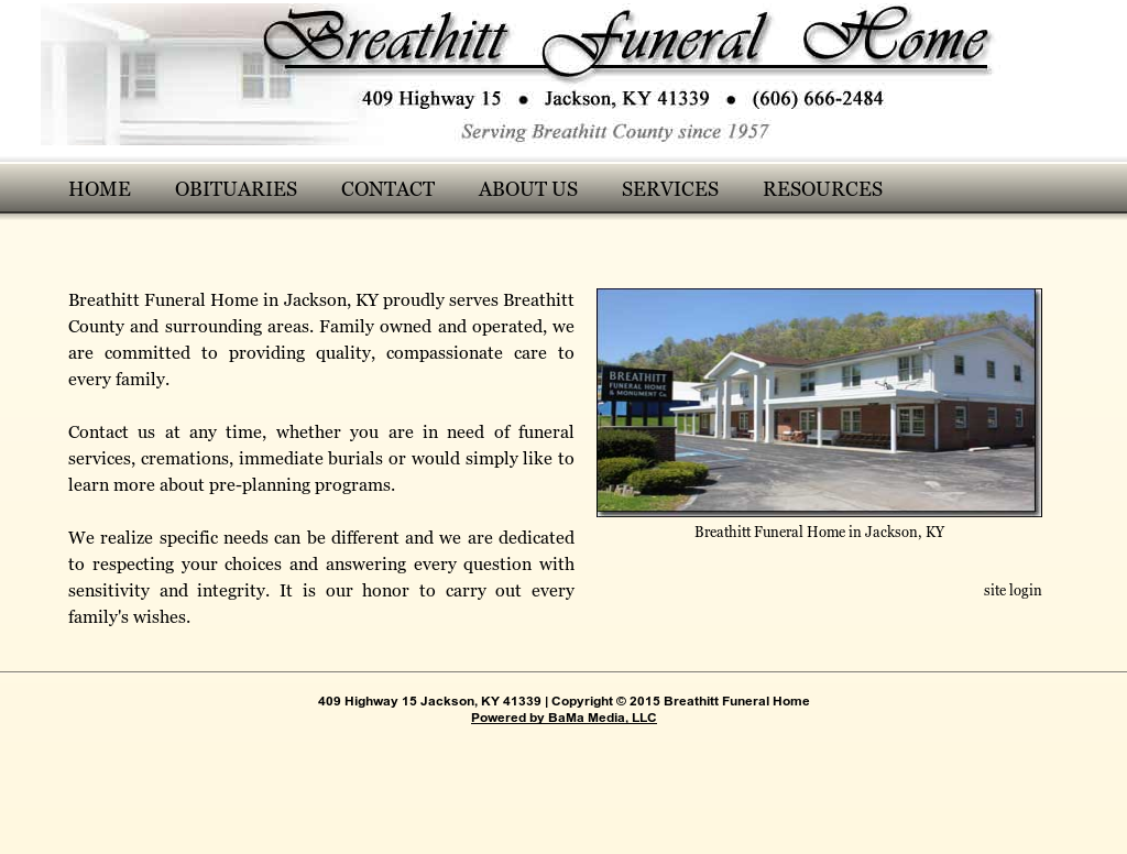 Breathitt Funeral Home Competitors, Revenue and Employees