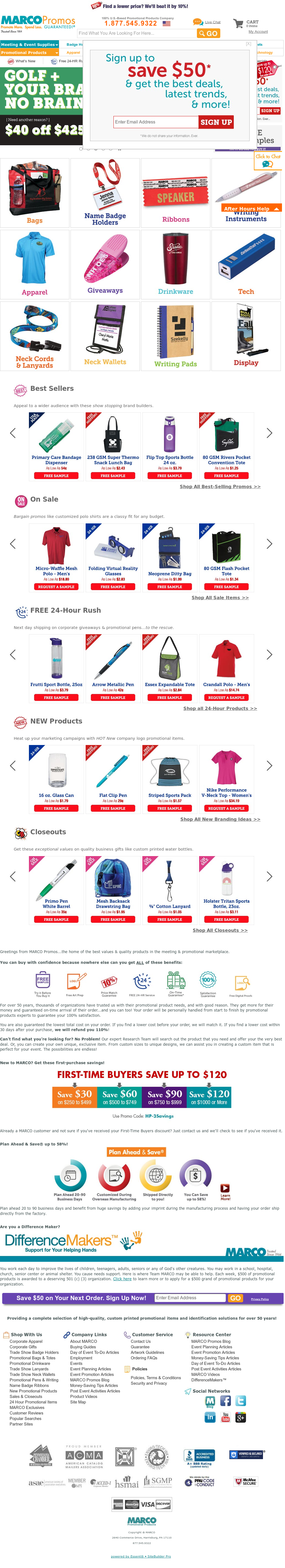 Marco promotional products Competitors, Revenue and Employees