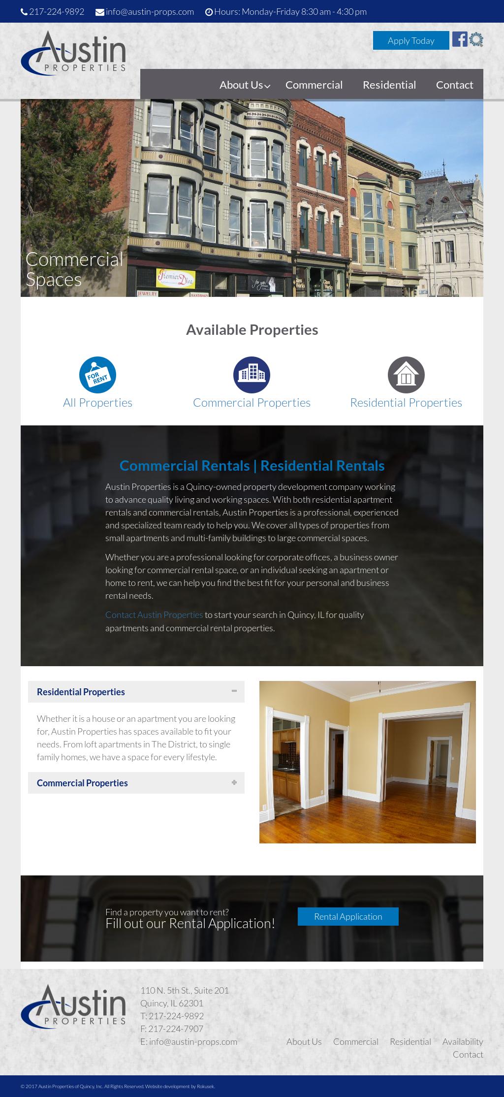 Austin Properties Management Website History