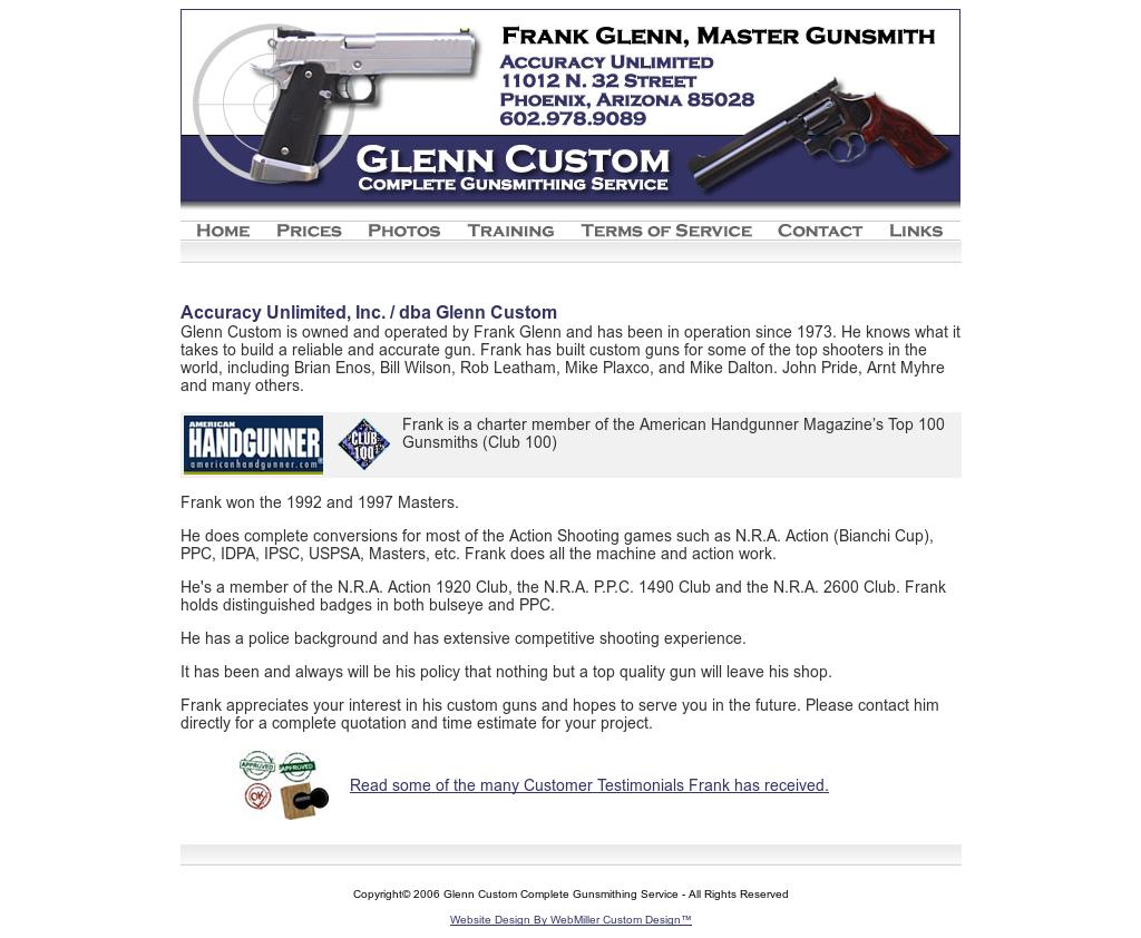 Glenn Custom Complete Gunsmithing Service Competitors