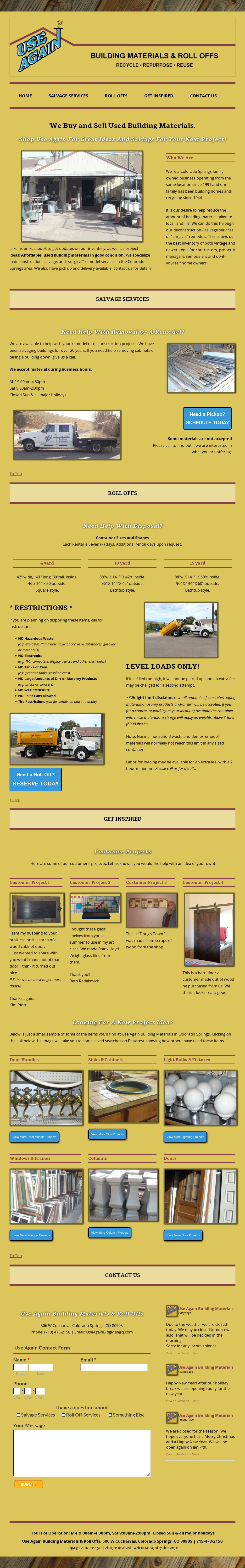 Use Again Building Materials Competitors, Revenue and
