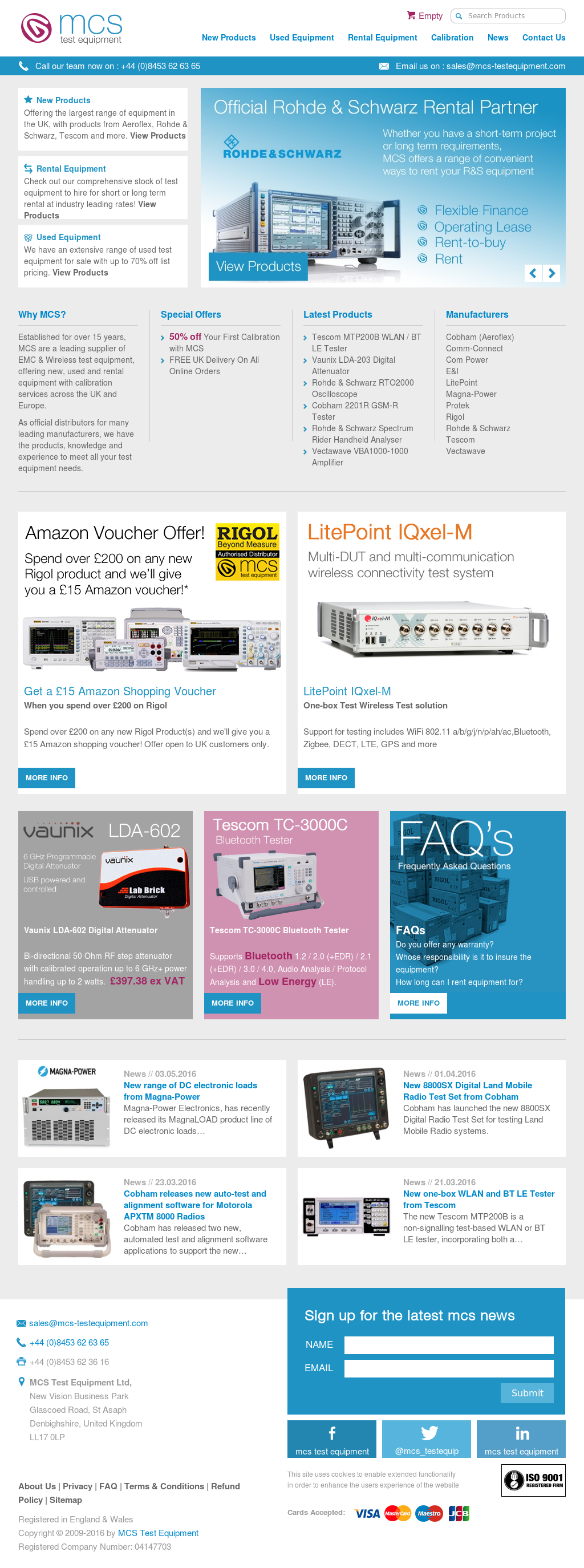 MCS Test Equipment Competitors, Revenue and Employees - Owler