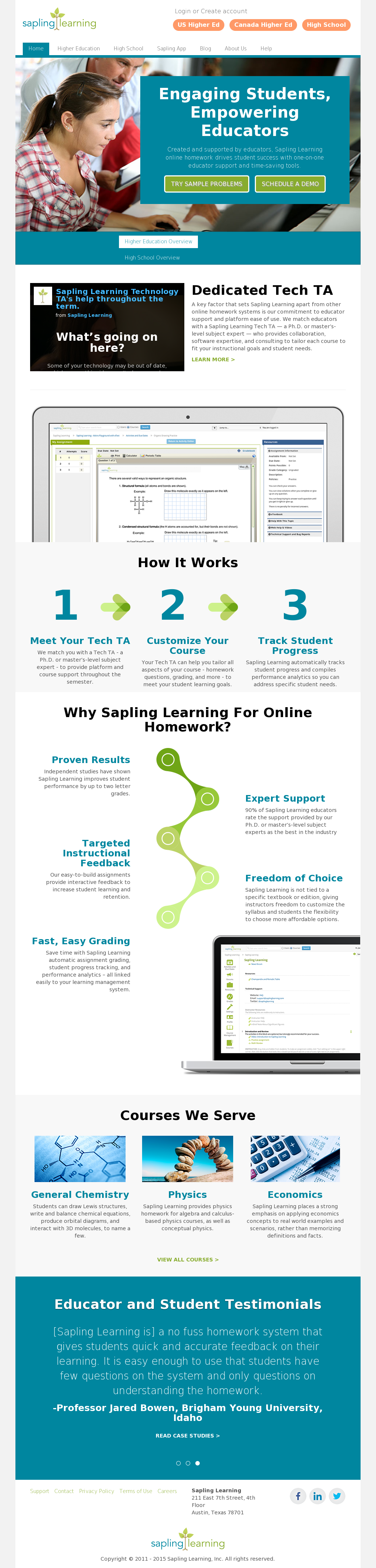 sapling learning online homework