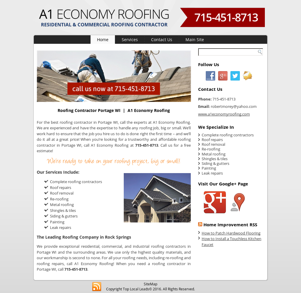 Roofing Contractor, Wisconsin Rapids - A1 Economy Roofing