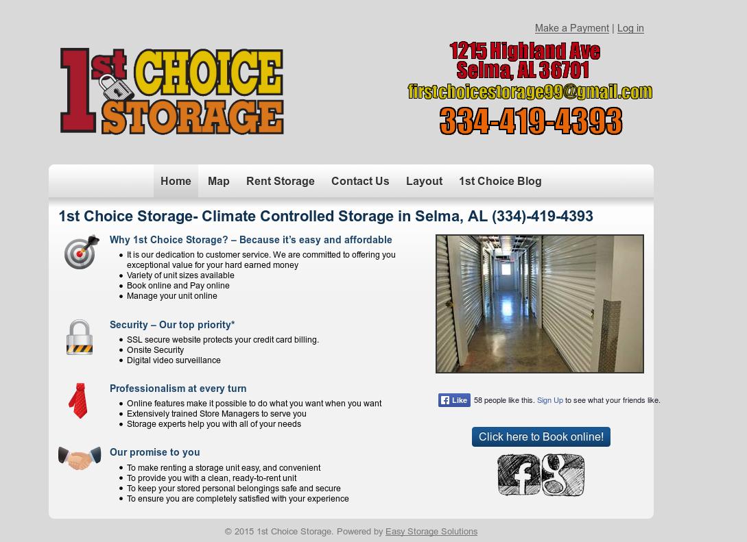Merveilleux 1st Choice Storage   Climate Control Website History