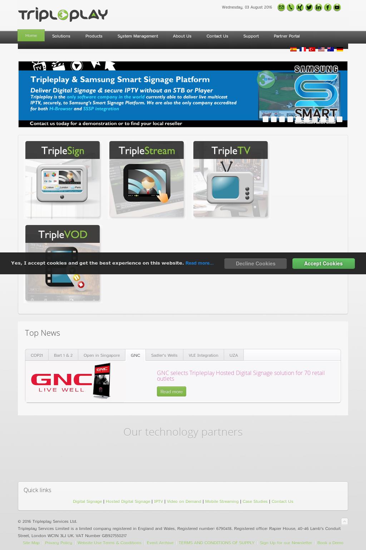 Tripleplay Services Ltd  Digital Signage, IPTV & Video