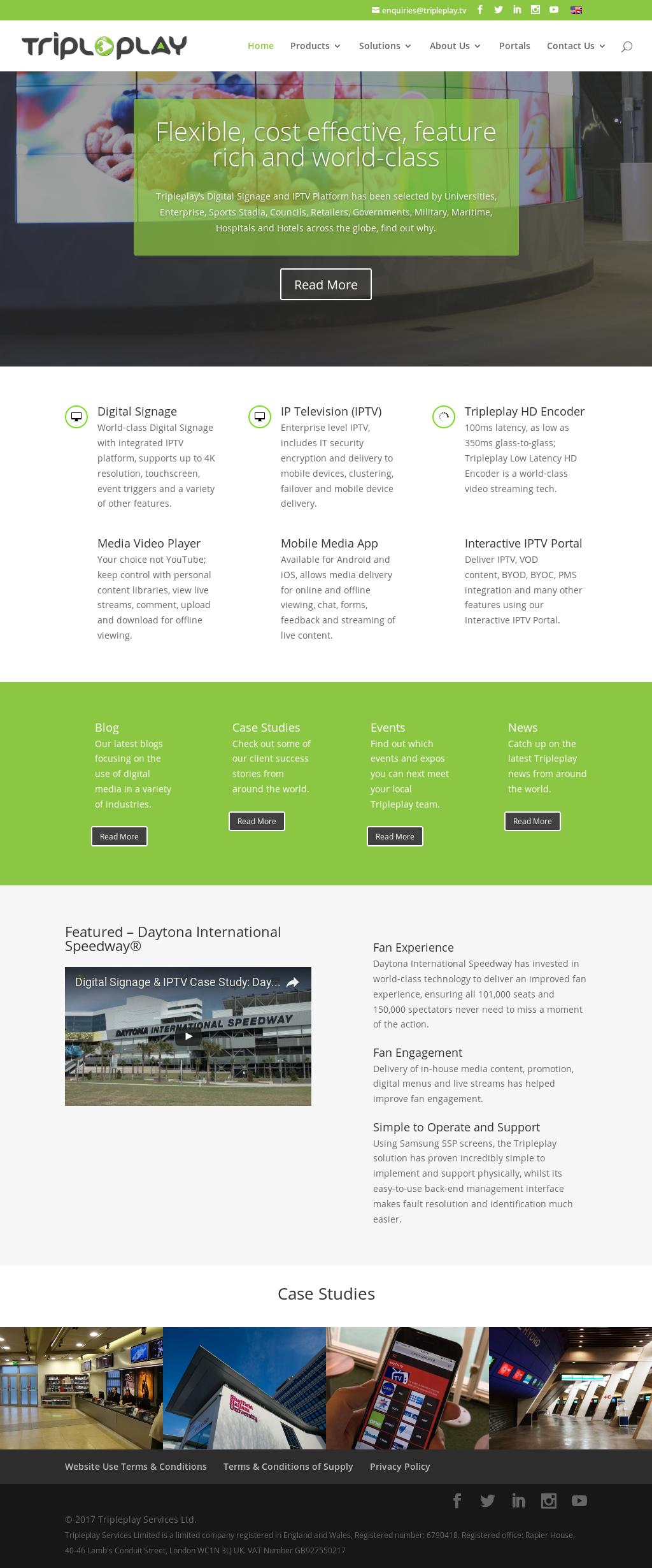 Tripleplay Services Ltd  Digital Signage, IPTV & Video Streaming