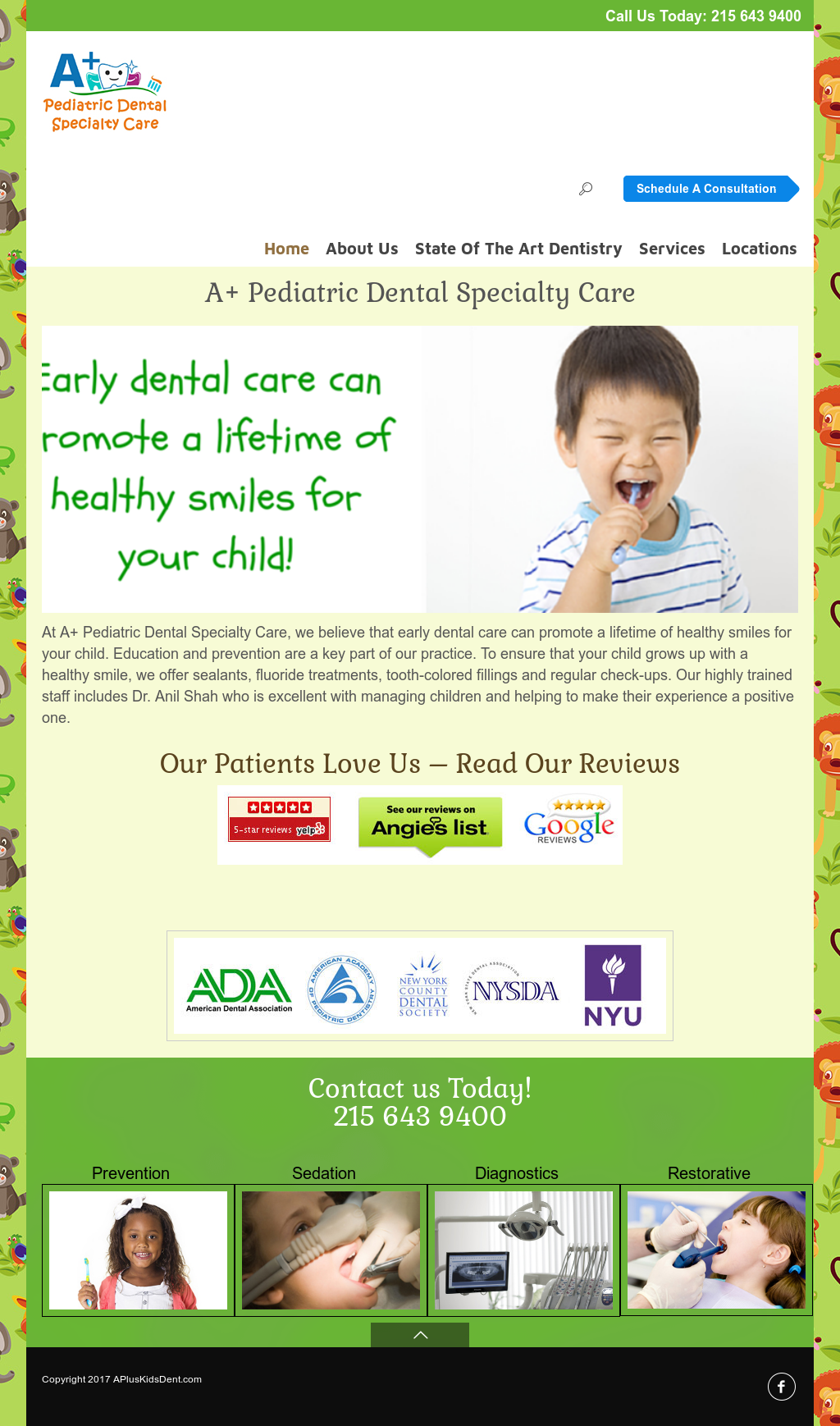 A+ Pediatric Dental Specialty Care, P c Competitors, Revenue