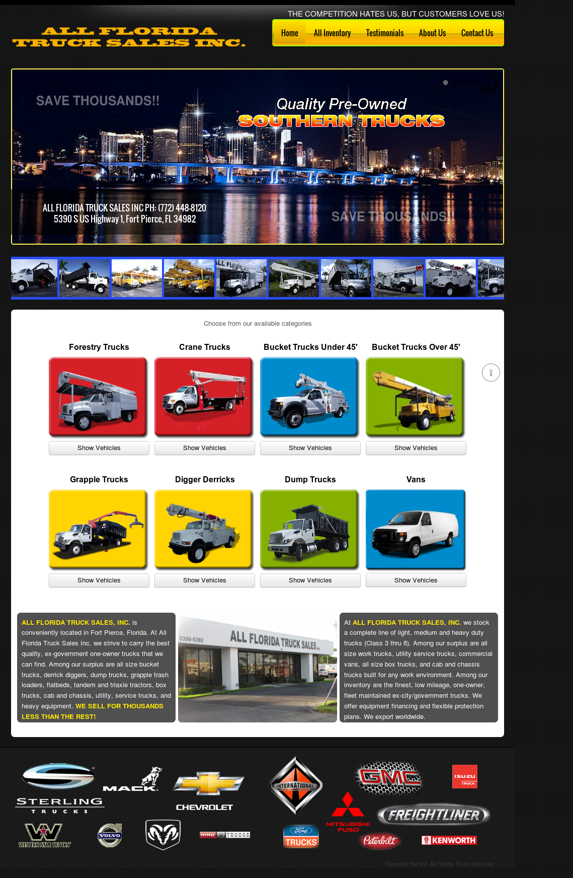 Florida Truck Sales >> All Florida Truck Sales Competitors Revenue And Employees