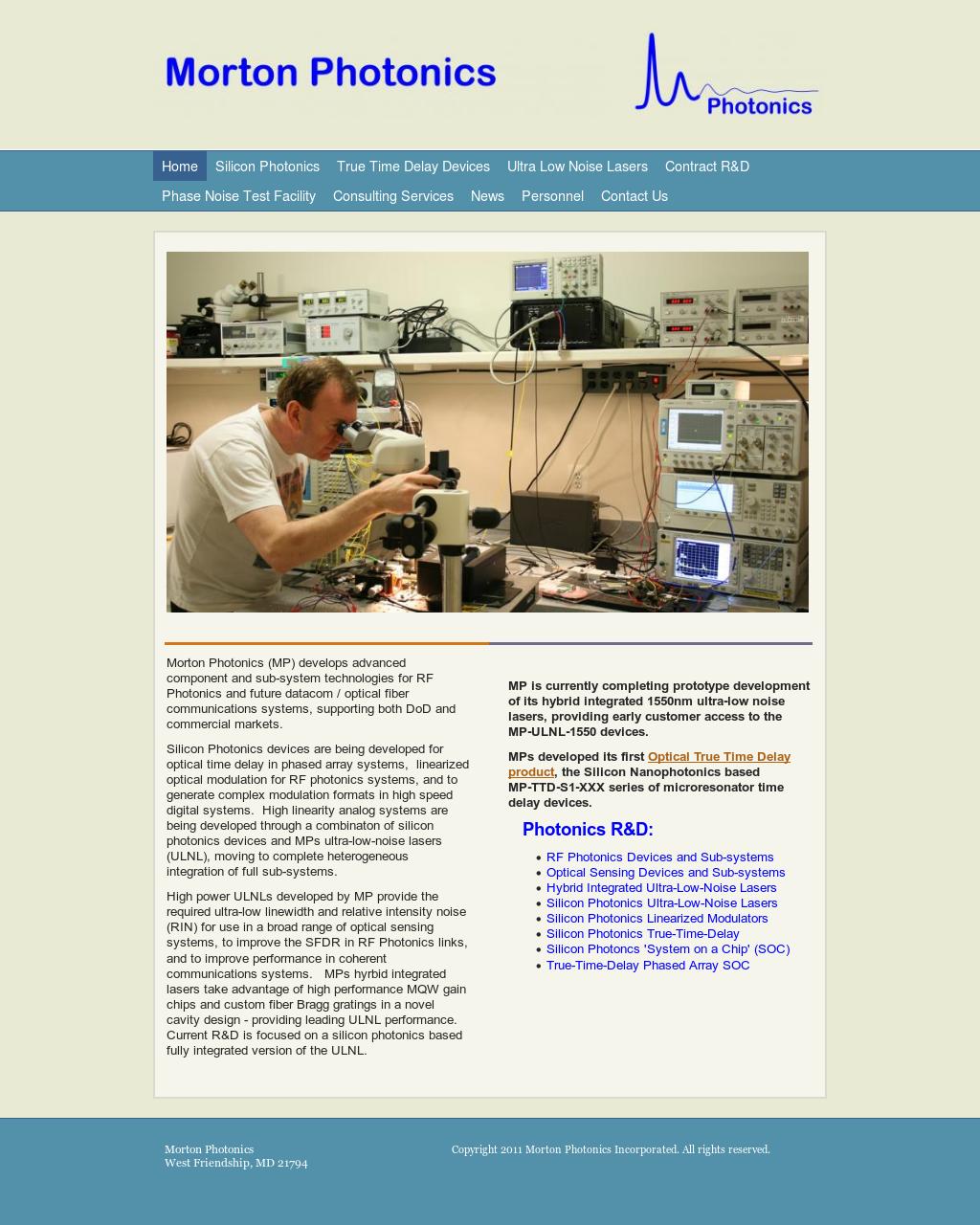 Morton Photonics Competitors, Revenue and Employees - Owler