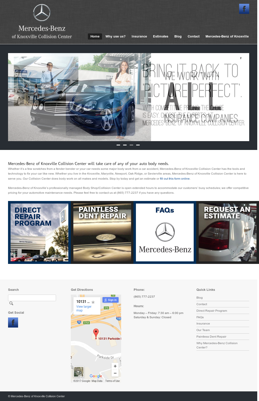 Mercedes Benz Of Knoxville Collision Center Website History