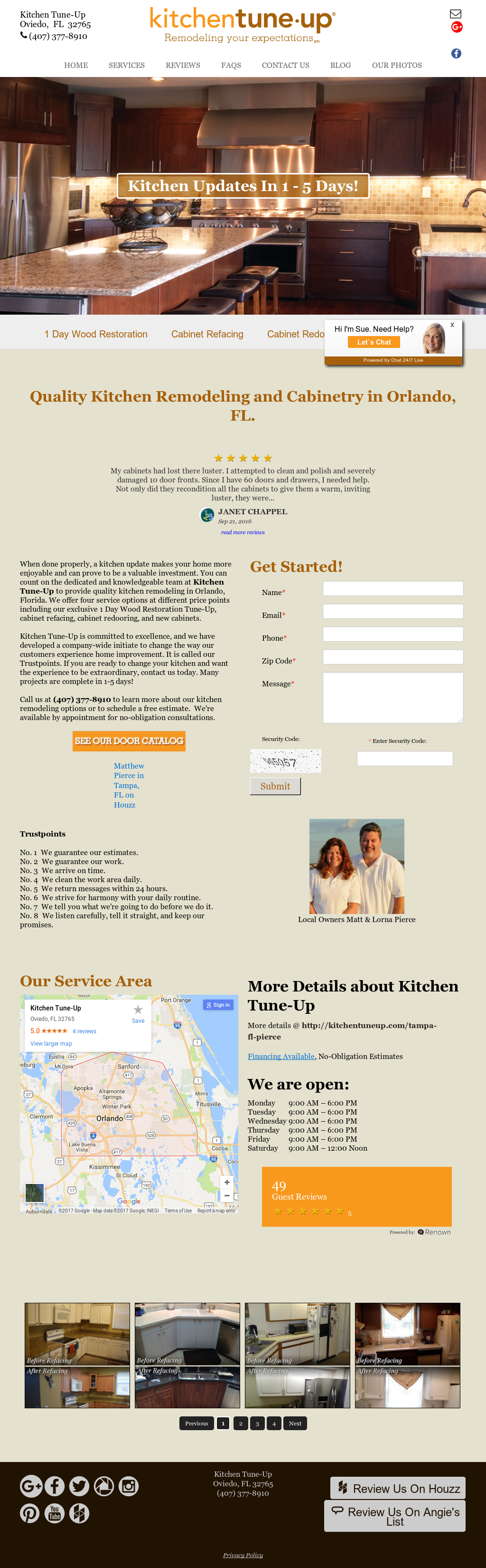 Kitchen Tune-up Nw Tampa Competitors, Revenue and Employees - Owler ...