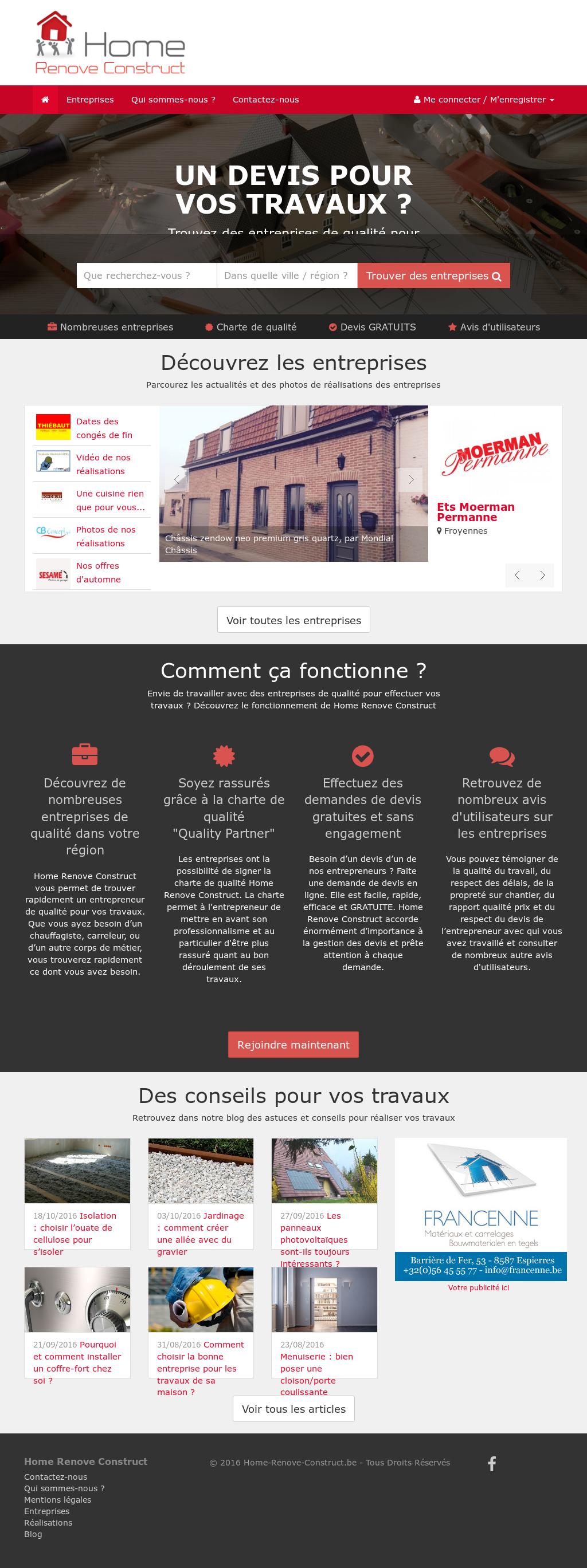 Maison Des Travaux Avis home renove construct competitors, revenue and employees