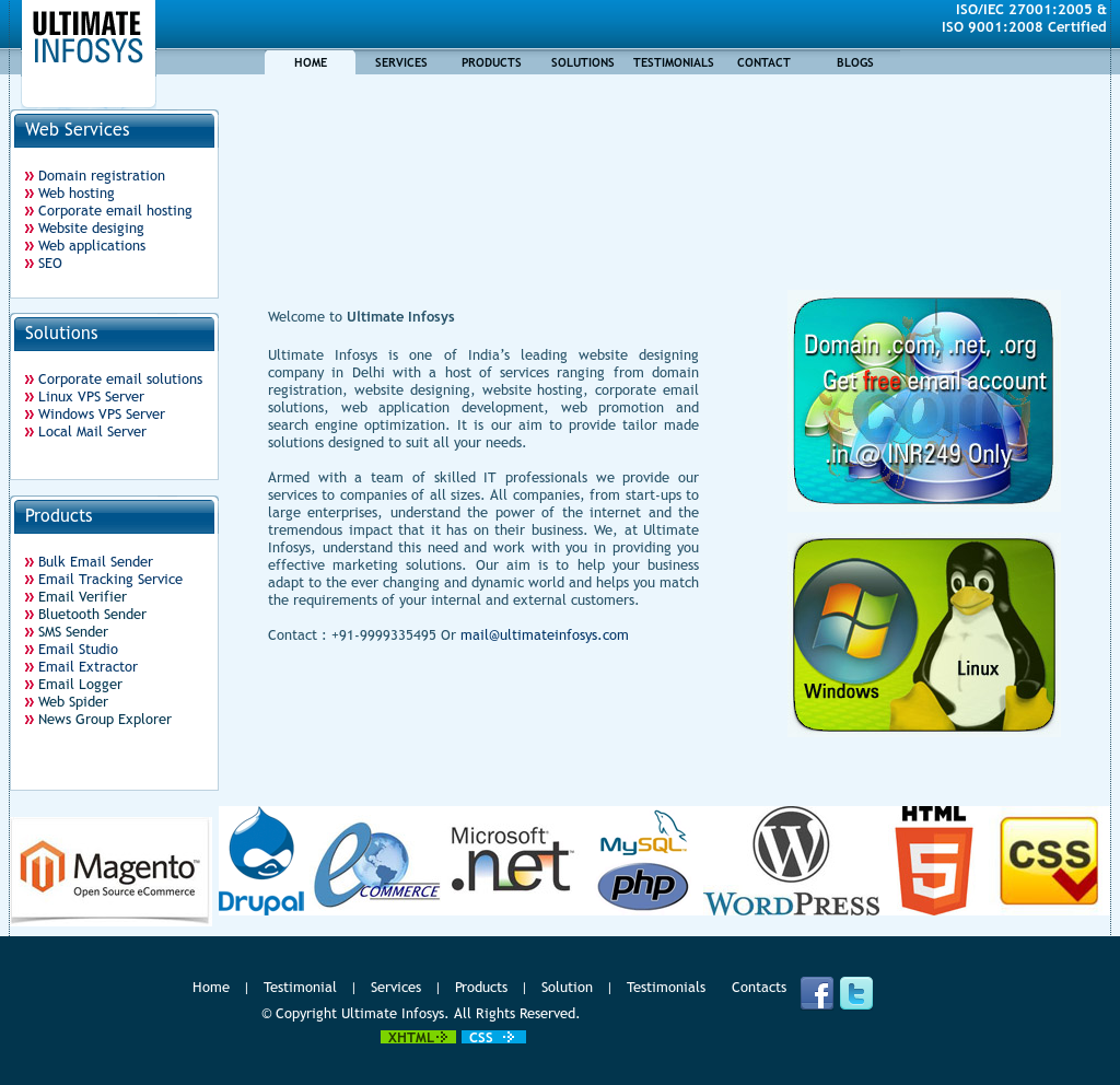 Ultimate Infosys - A Website Designing Company In Delhi India