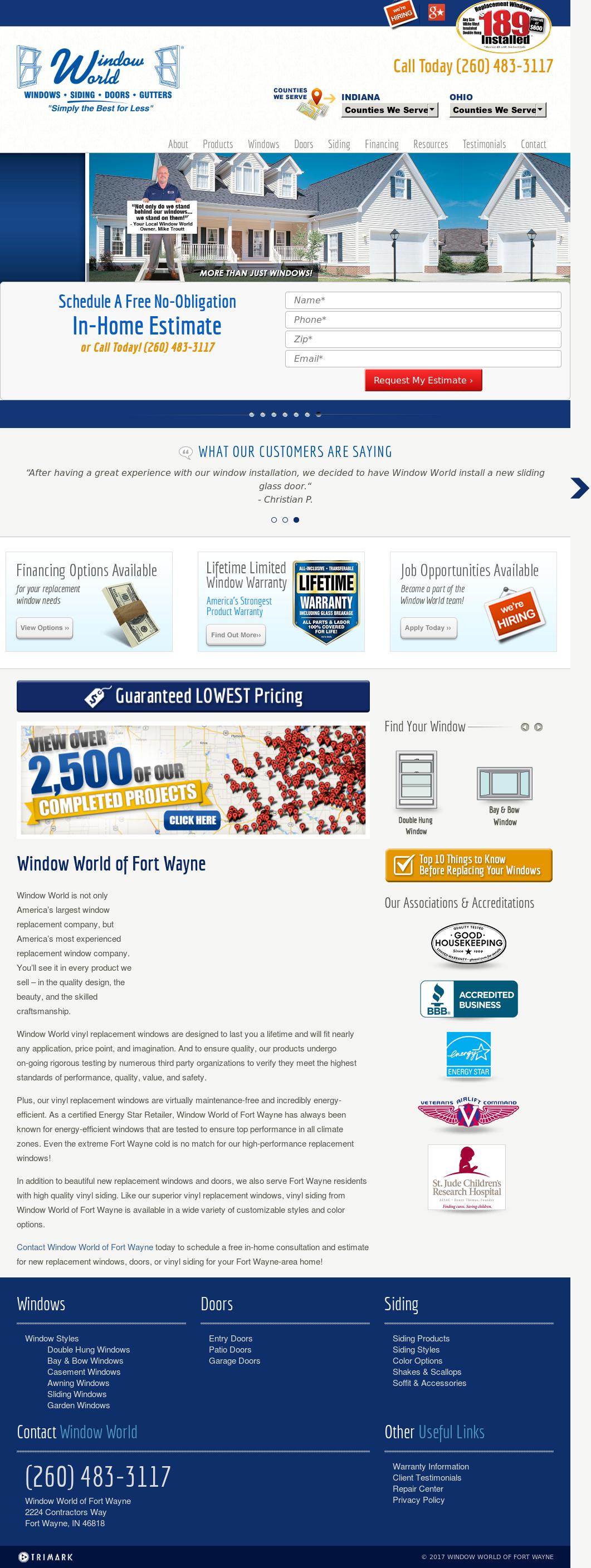 Window World Of Fort Wayne Website History