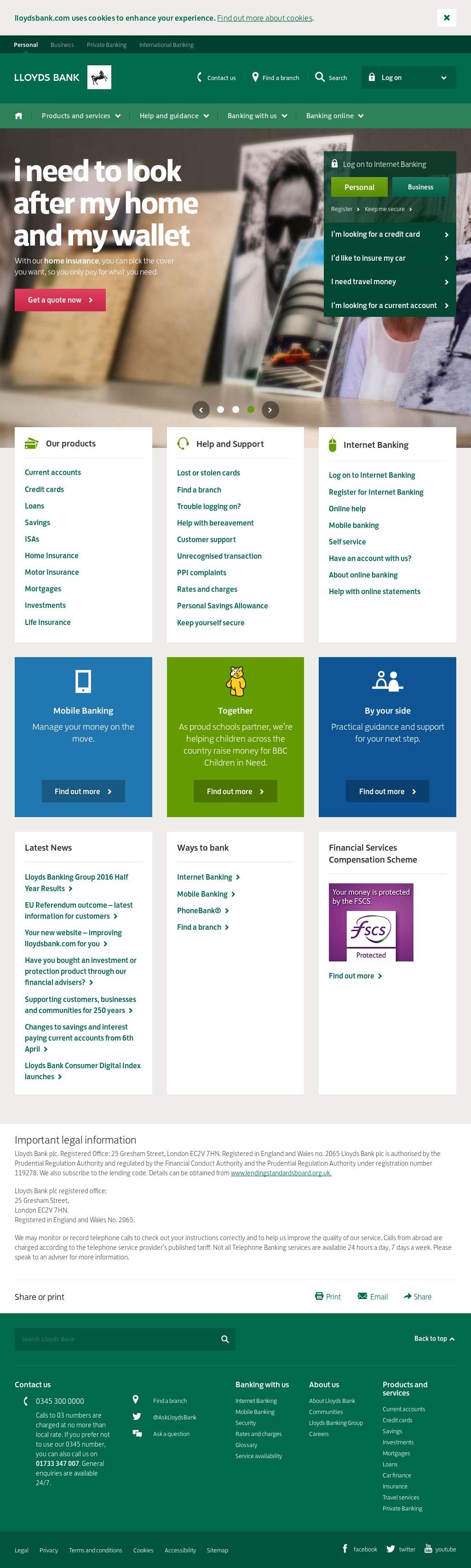 www lloyds internet banking