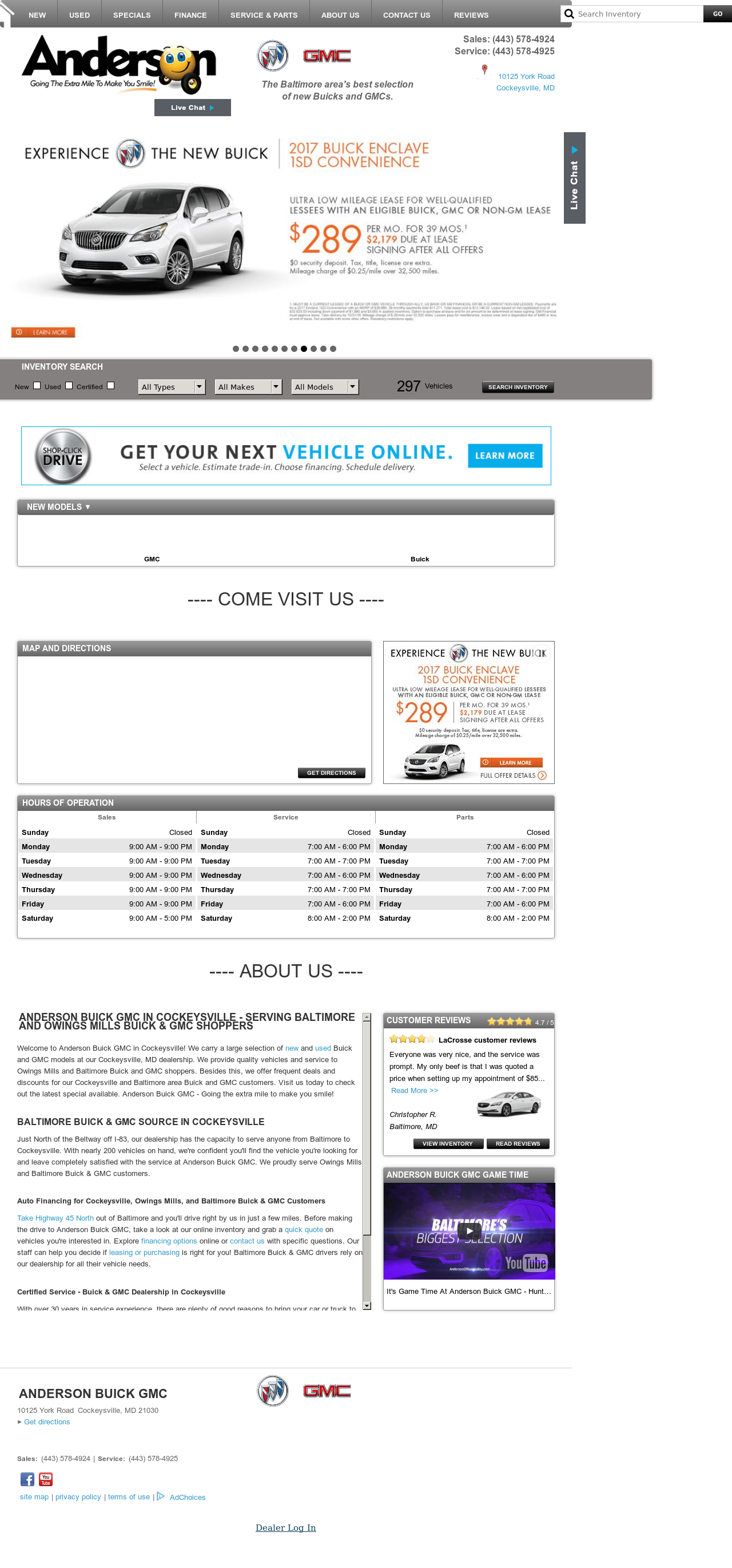 and revenue owler andersonofhuntvalley employees company md price competitors profile salisbury buick