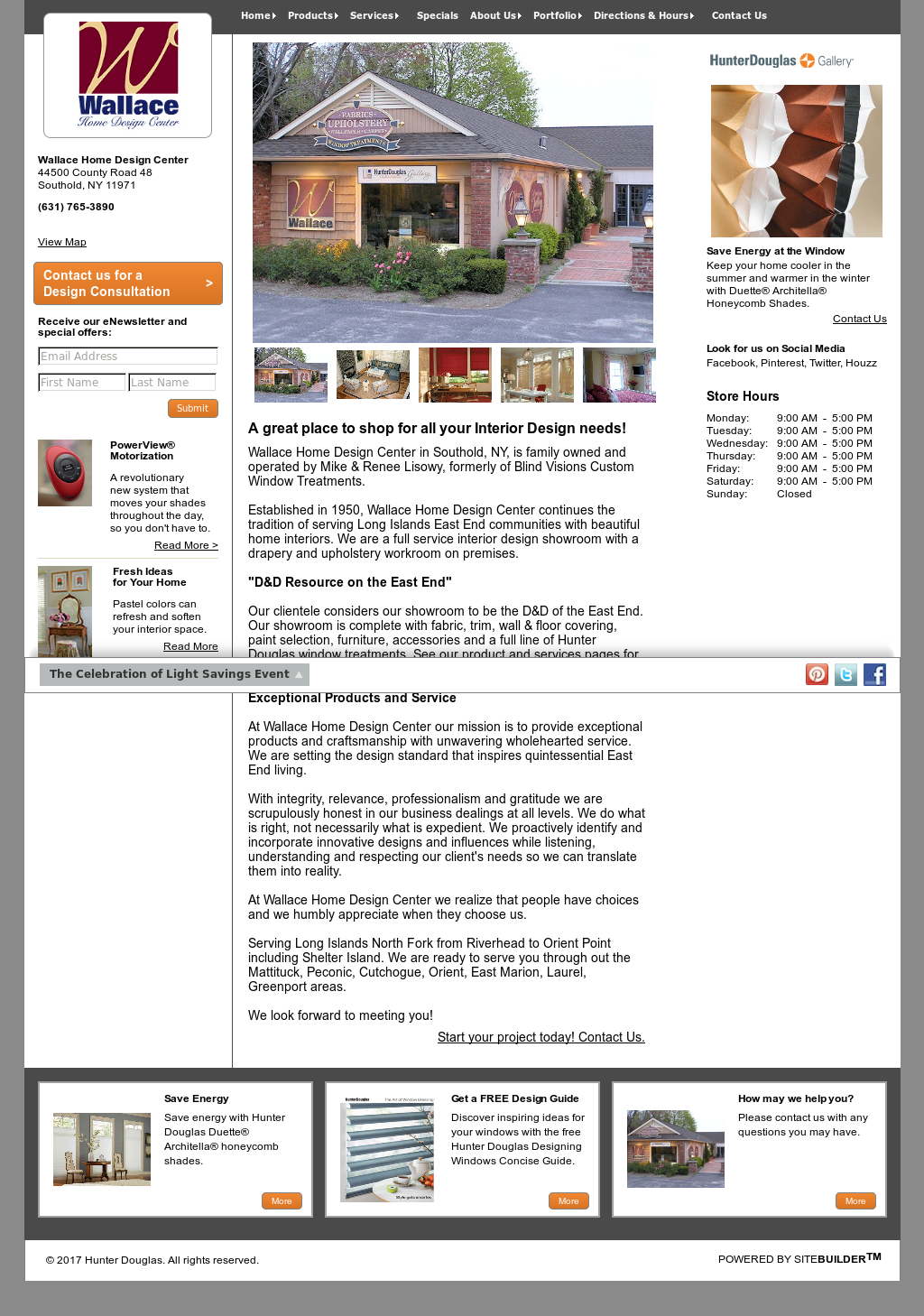 Wallace Home Design Center Website History