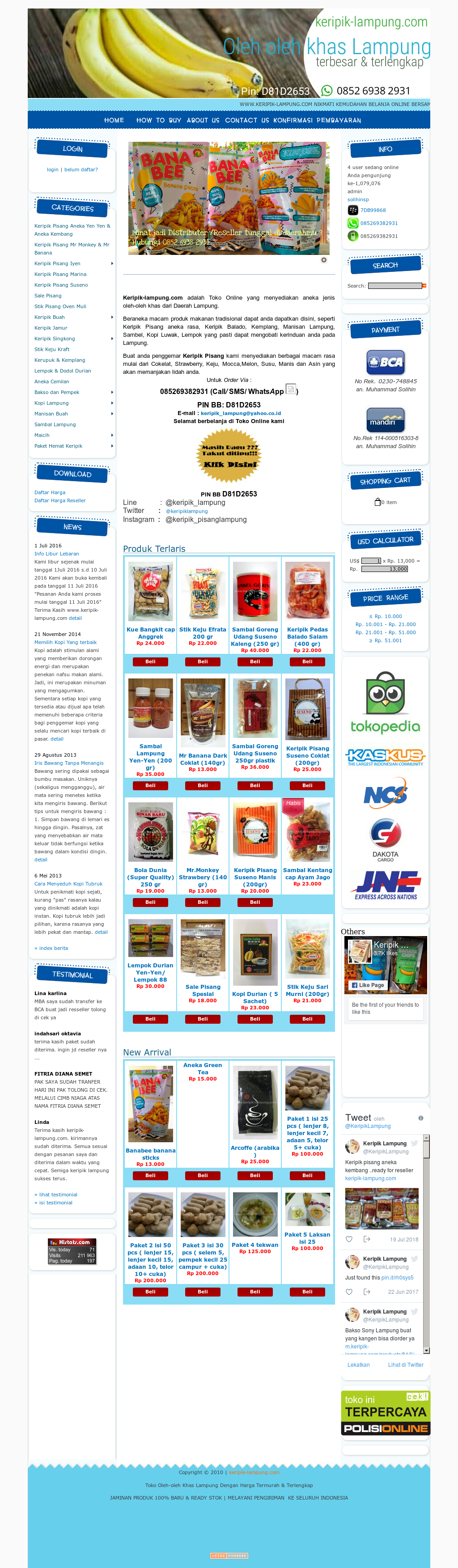 Keripik Pisang Lampung Competitors Revenue And Employees Owler By Mulqi Rasa Website History