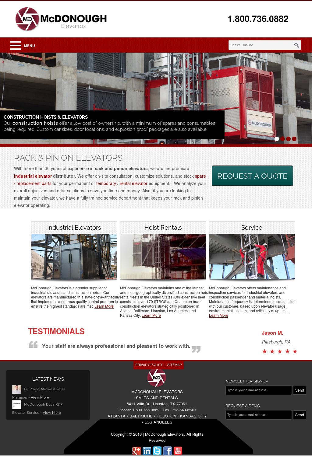 McDonough Elevators Competitors, Revenue and Employees