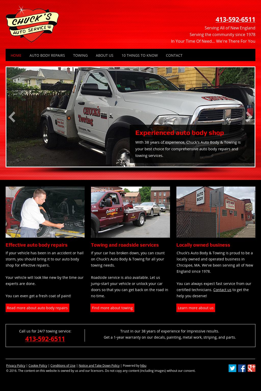 Chucks Auto Body >> Chuck S Auto Body Towing Competitors Revenue And