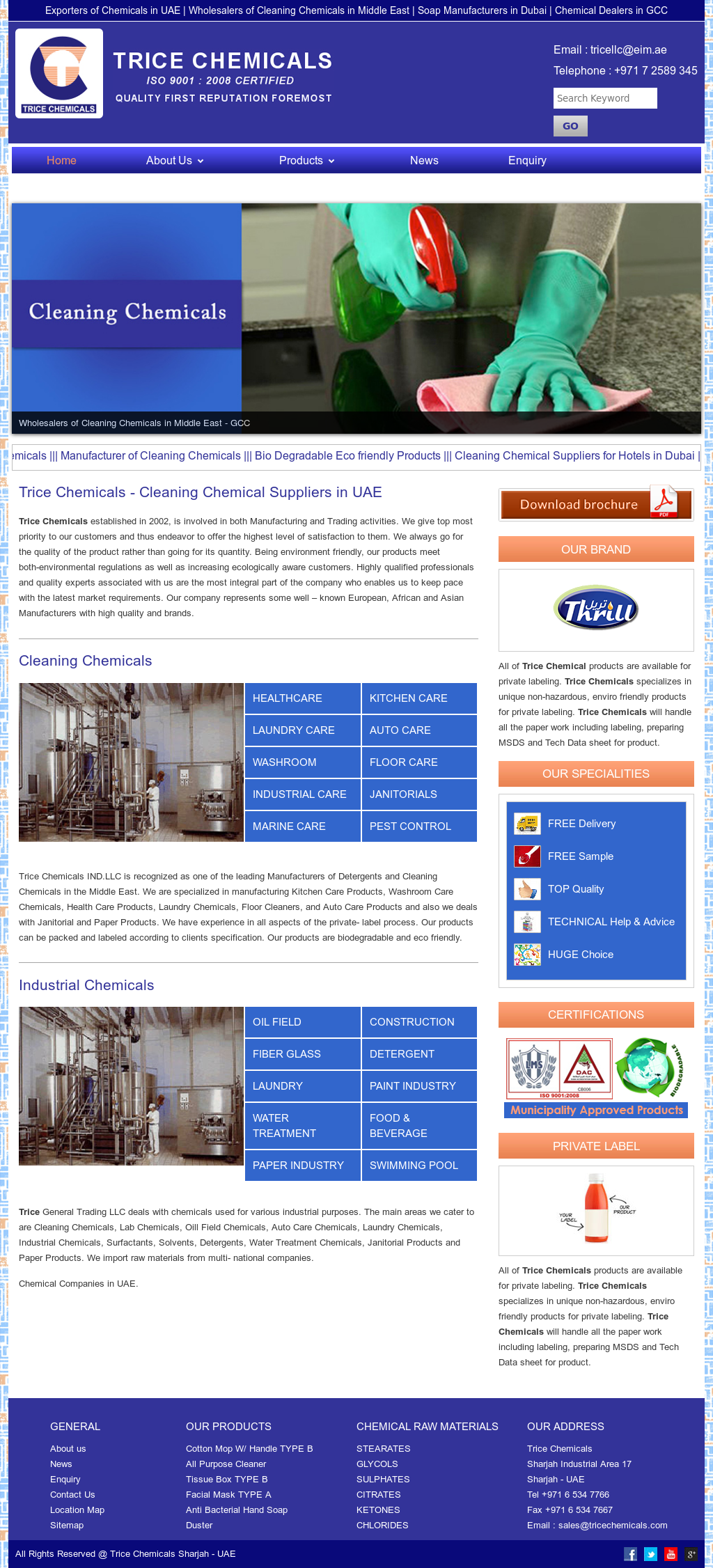 Trice Chemicals Ind Competitors, Revenue and Employees
