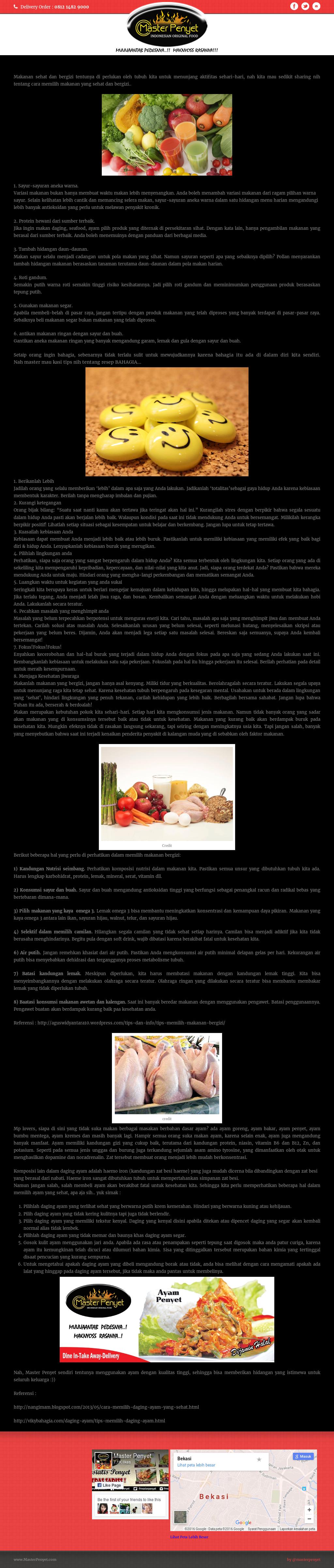 Owler Reports Master Penyet Blog Memilih Makanan Sehat