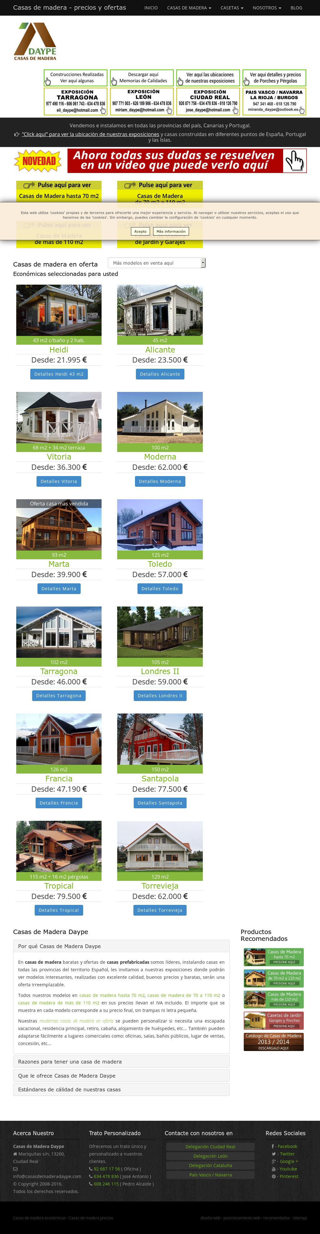 Casas De Madera Daype Precios Y Ofertas Competitors Revenue And