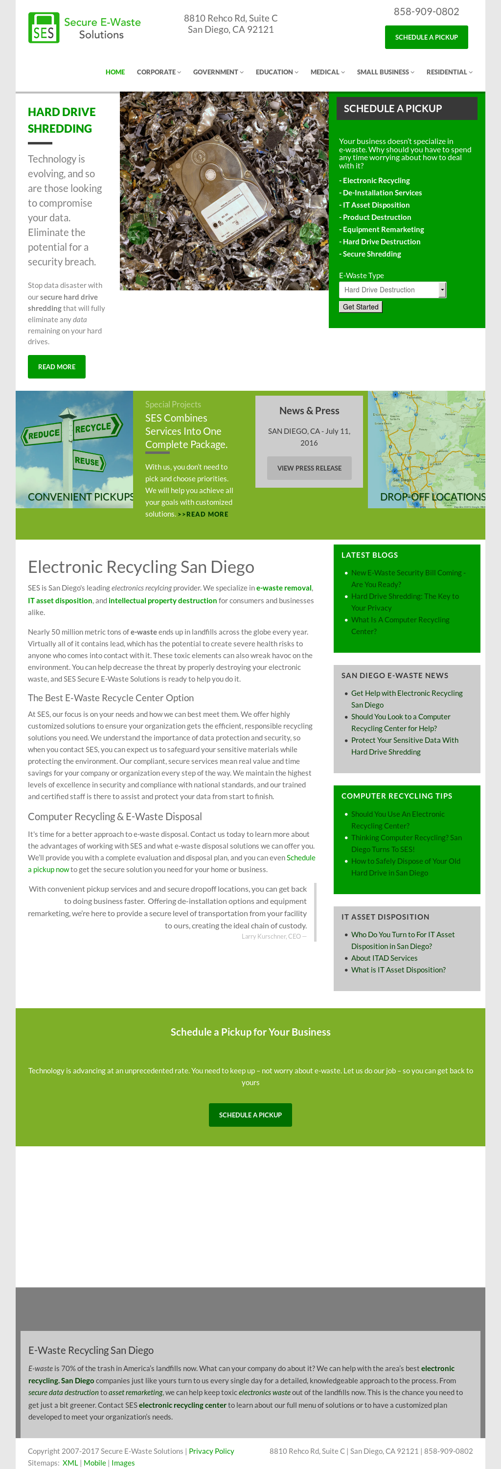 ses secure e waste solutions competitors revenue and employees
