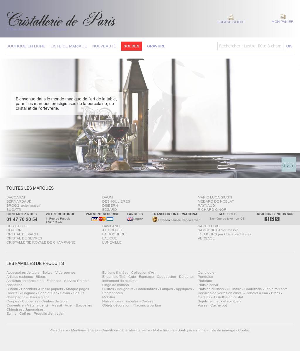 Cristallerie De Paris Competitors, Revenue and Employees