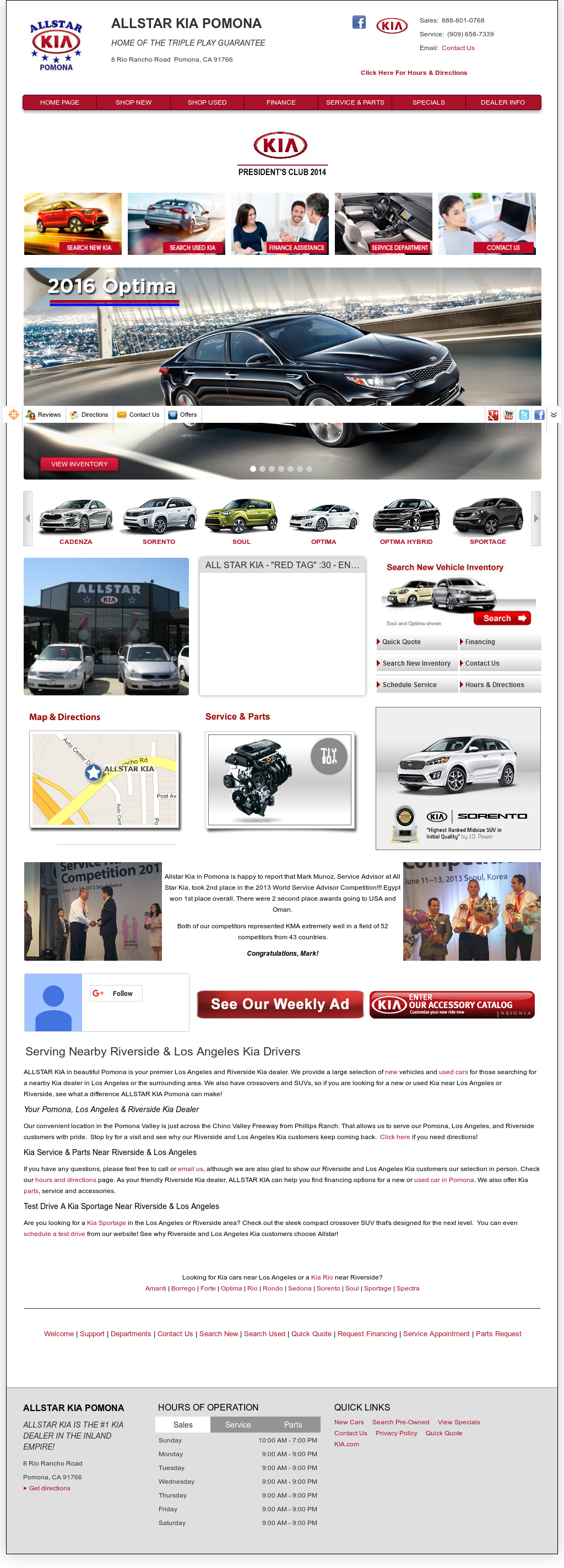 Exceptional Allstar Kia Pomona Competitors, Revenue And Employees   Owler Company  Profile