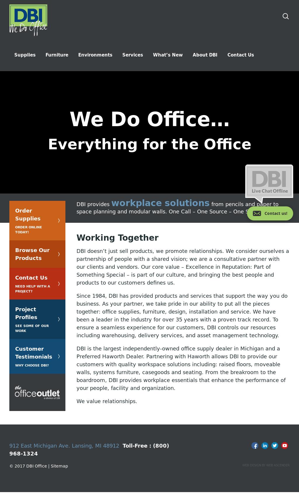 Dbi We Do Office Website History