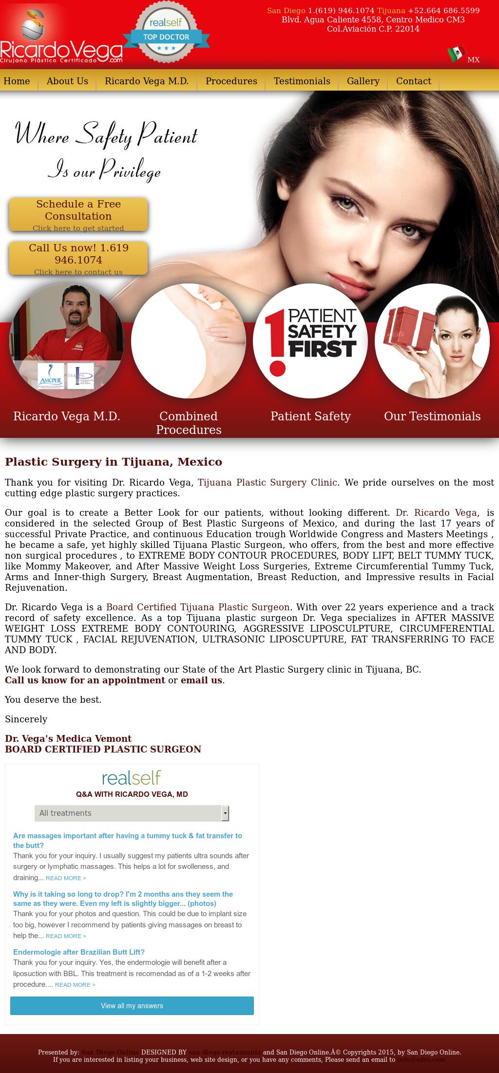 Dr Ricardo Vega - Plastic Surgery & Med Spa Competitors