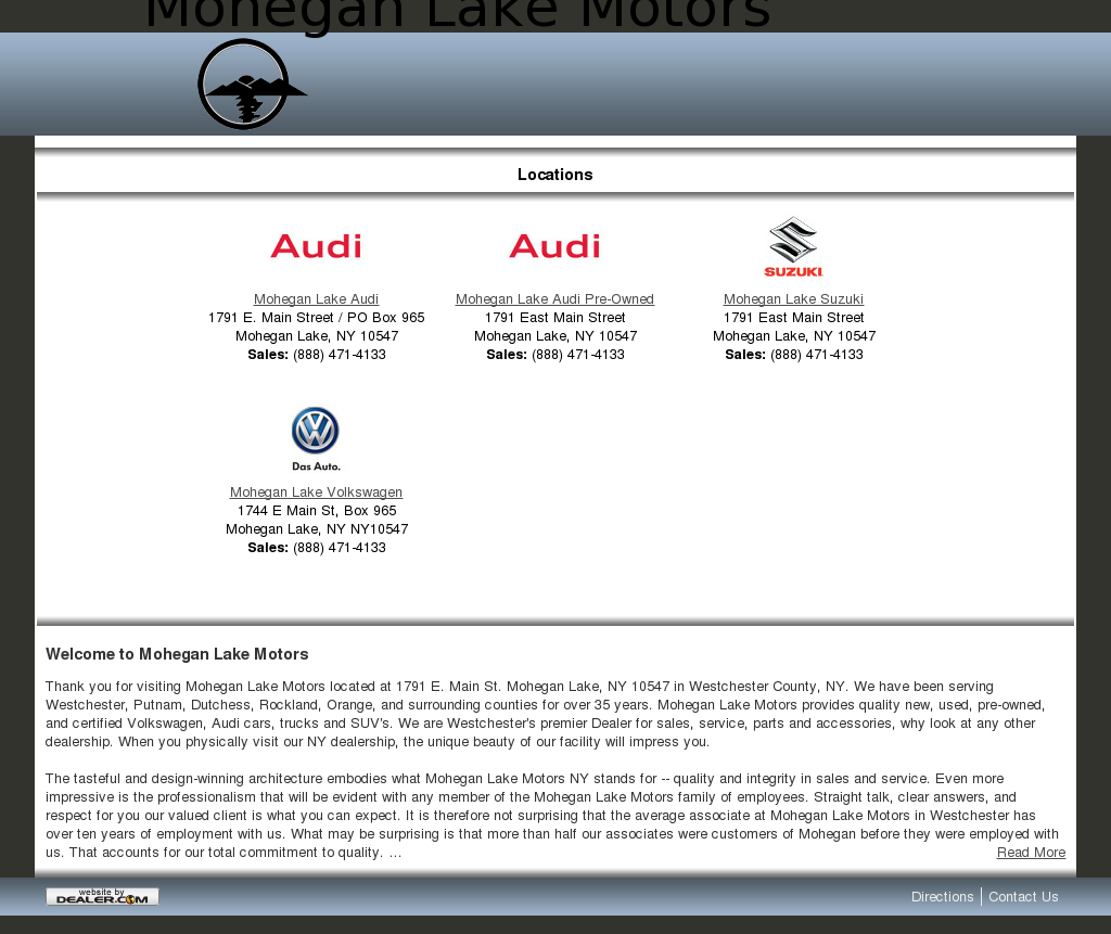 Audi Mohegan Lake Motors