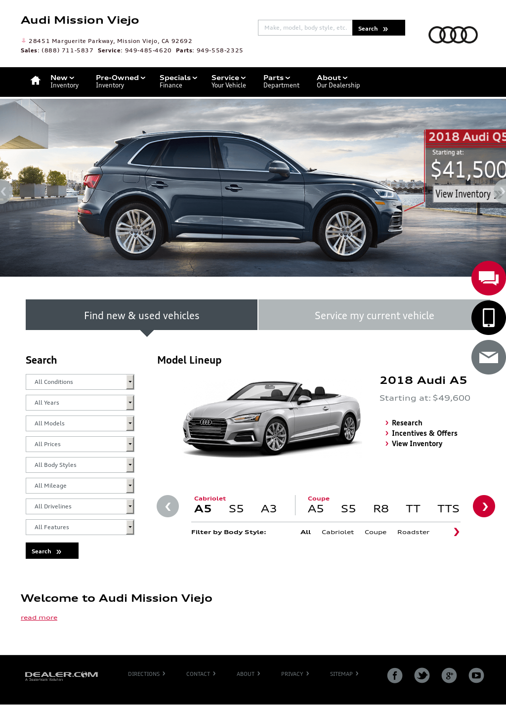 Audi Mission Viejo Competitors Revenue And Employees Owler - Audi mission viejo service