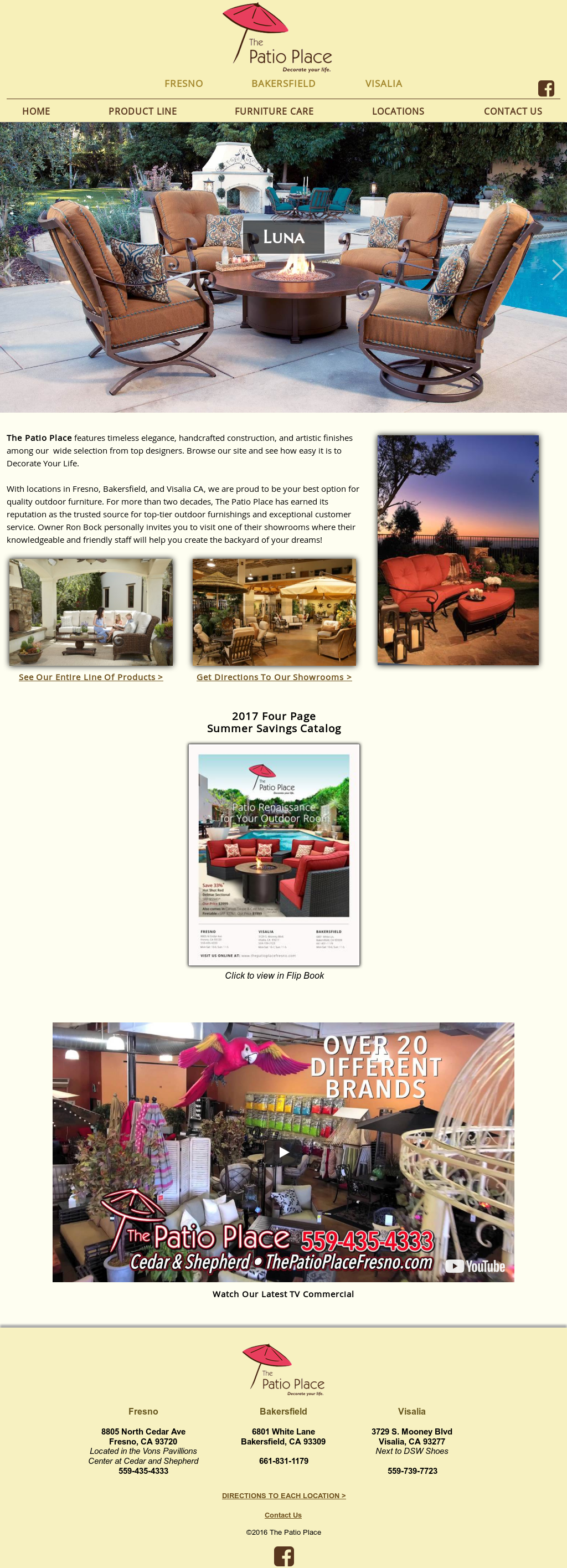 The Patio Place Fresnou0027s Website Screenshot On Nov 2017