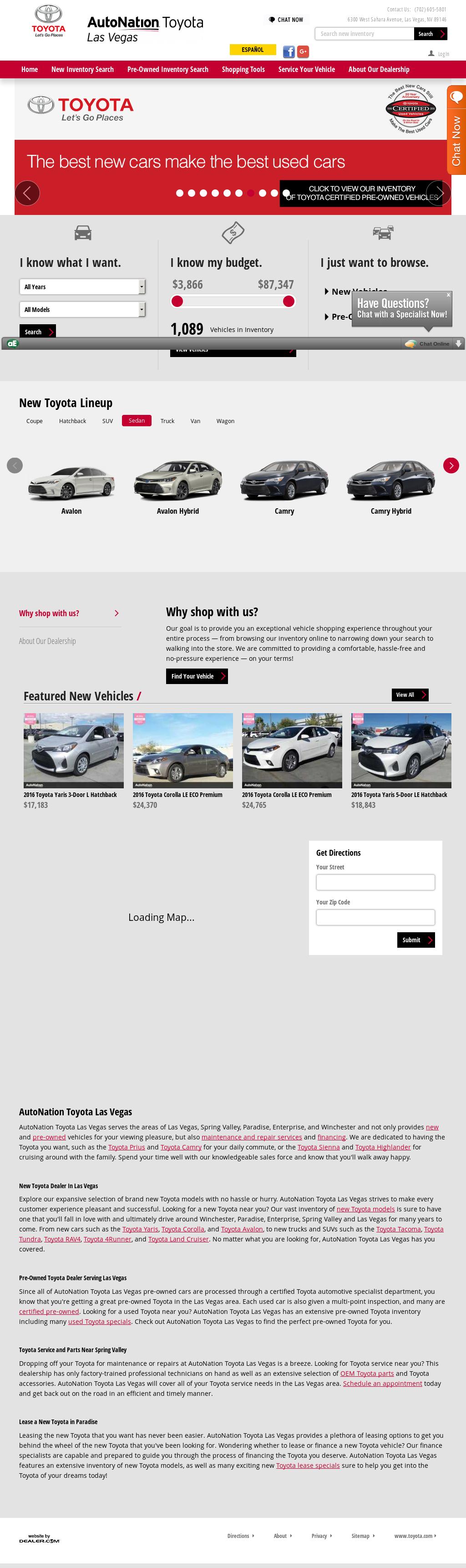 Autonation Toyota Scion Las Vegas Website History