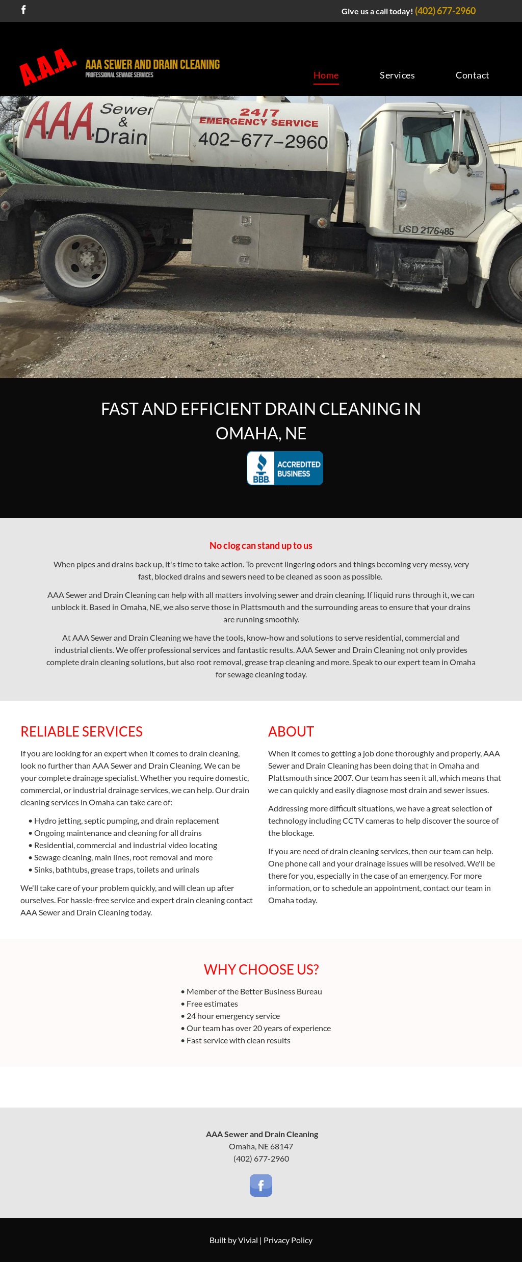 Aaa Sewer And Drain Cleaning Website History