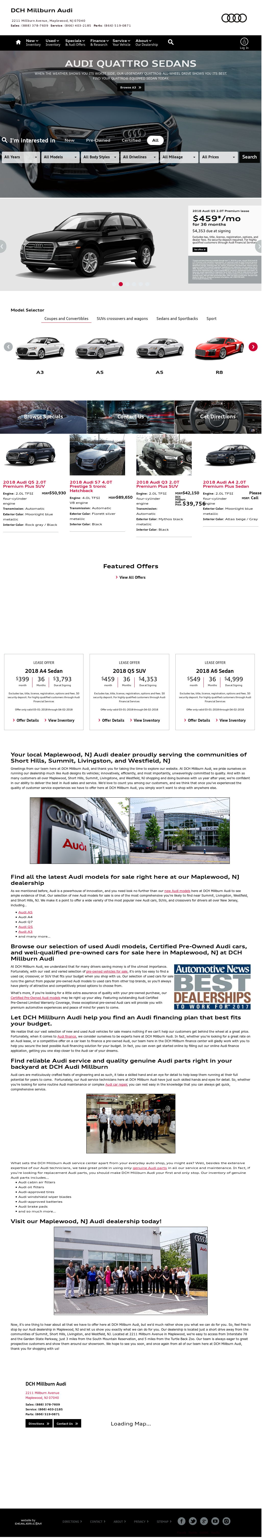 DCH Millburn Audi Competitors Revenue And Employees Owler Company - Dch audi