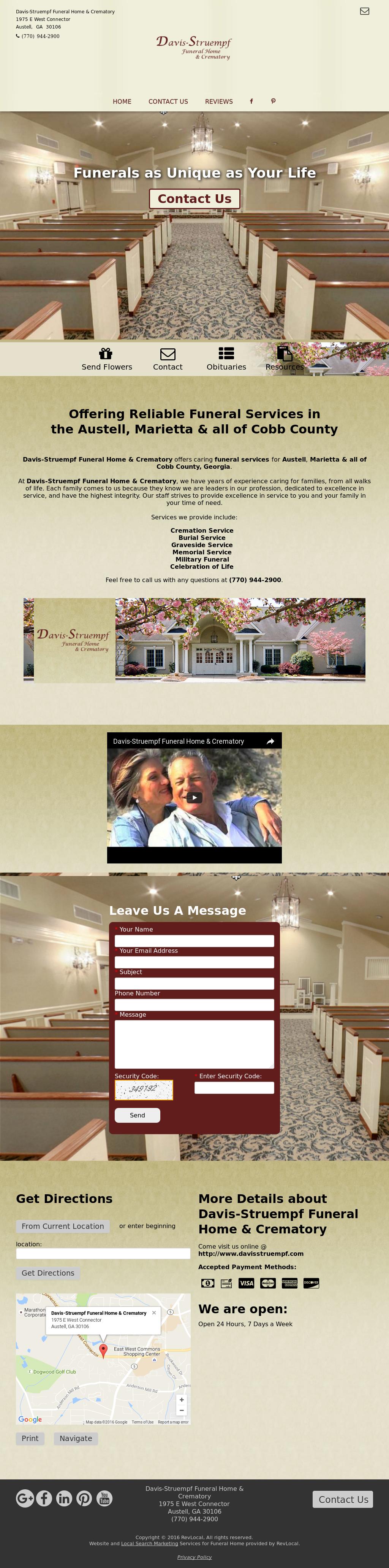 Davis-Struempf Funeral Home & Crematory Competitors, Revenue